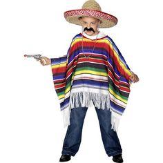 Kids Mexican Poncho  Pk 1