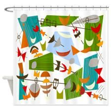 Atomic Funky Best C Clear Shower Curtain