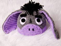 Eeyore Crochet Hat Grey and Purple. $25.00, via Etsy.