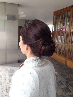 www.philippablake.com Indian Wedding Hair & Make Up. Elegant Up Do. Dark hair.