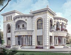 Princess Haya Villa on Behance House Outside Design, House Gate Design, Village House Design, Kerala House Design, Condo Design, Bungalow House Design, House Front Design, Villa Design, Classic House Exterior