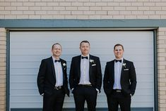 Real Wedding – Sonia & Michael - Groomsmen - Classic Black & White Attire