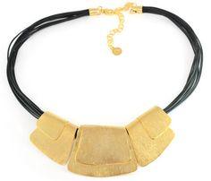 שרשרת זהב, שרשרת זהב עבודת יד, שרשרת זהב מיוחדת, שרשרת קליאופטרה, שרשרת זהב ושחור, שרשרת מעצבים | אורלי סגל תכשיטים - orly segal | מרמלדה מרקט