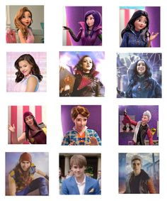 """""""who looks the most like there cartoon?"""" by maxinepotter ❤ liked on Polyvore featuring art and Descendants"""