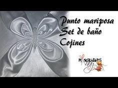 CLASE XXXII - PUNTO MARIPOSA SET DE BAÑO Y COJÍN | Manualidades Anny - YouTube