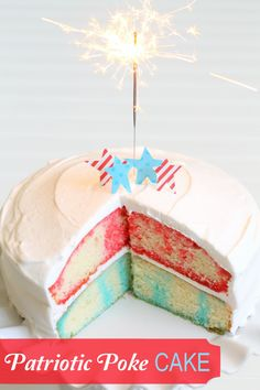 Patriotic Poke Cake - perfect for the Fourth of July!!