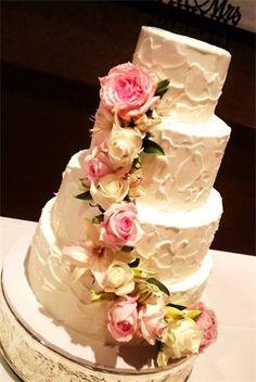 buttercream cake fresh flowers - Google Search