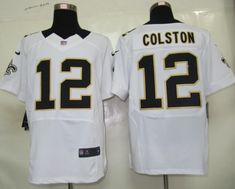 New Orleans Saints 12 Colston White Nike Elite Jerseycheap nfl jerseys afbce8142