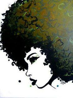 Hair art afro black girls new Ideas Natural Hair Art, Natural Hair Styles, Natural Beauty, Black Girl Art, Black Women Art, Art Girl, Art Women, Black Girls, African American Art