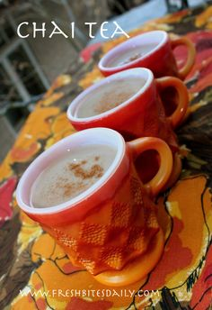 Homemade chai tea, a simple and healthy beverage use coconut milk for paleo