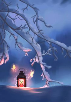Forgotten and Newly Found Lantern by Mellodee on DeviantArt – Beste Winterbilder Flower Backgrounds, Wallpaper Backgrounds, Miniature Photography, Winter Scenery, Winter Magic, Cute Cartoon Wallpapers, Winter Pictures, Anime Scenery, Winter Wonder