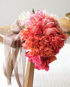 Ombre shades of pink - Valentine's Day Inspiration! via @MarthaStewartWeddings