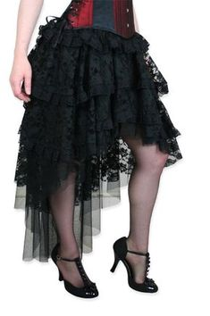 Victorian Era / Steampunk Clothing is awesome!Ophelie Skirt - Black ~ available for purchase! Would make a gorgeous quality costume!
