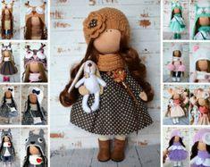 Bonita Rag doll Fabric doll Handmade doll Puppen Interior doll