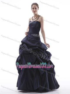 c381dc212c3 Buy lace up back beading strapless pick ups navy blue pageant dress from  plus size pageant dresses collection