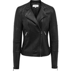 COLLARLESS LEATHER JACKET (12.940 HUF) ❤ liked on Polyvore featuring outerwear, jackets, collarless jackets, leather jackets, collarless leather jacket, genuine leather jackets and real leather jackets