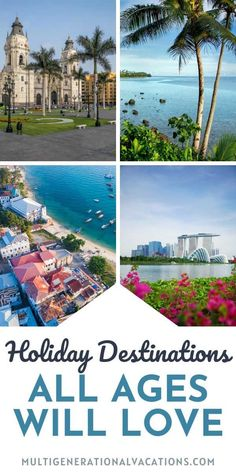 If you are planning a family trip with grandparents, it can be difficult to find the perfect destination for all ages. Whether you have toddlers, teens, or grandparents, these destinations offer something for everyone. Here are some amazing holiday destinations around the world. - Multigenerational Vacations #multigentravel #travelwithgrandparents #travelwithteens #multigenvacationideas #familyvacationideas Best Family Holiday Destinations, Amazing Destinations, Travel Destinations, Toddler Travel, Travel With Kids, Family Travel, Family Road Trips, Family Vacations, Beaches Turks And Caicos