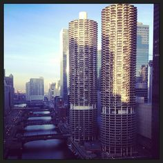 """Enjoyed the view of Chicago's """"corn cob"""" towers during our first visit to the city."""