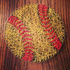Softball, string art make this for the hubbys shop Softball Party, Softball Crafts, Girls Softball, Softball Stuff, Softball Things, Softball Quotes, Baseball Stuff, Sport Quotes, Softball Room Decor
