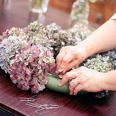 Use this technique to dry hydrangea blossoms for year-round enjoyment.