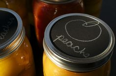 Great idea for labeling your homemade preserves! From Cubit's Organic Living