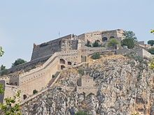 Nafplio, Greece Castle of Palamidi. The Palamidi Castle is a must attraction in the area of Nafplio. The castle overlooks the city and provides a fabulous view. || www.SunDevilTravel.com