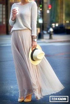 En Moda 15 Uzun Etek Modelleri | 7/24 Kadın | Kadınlar İçin Her Şey