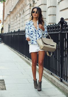 Ladies, take a look at Pretty Street Style Outfits For The Summer. Summer is a great season for experimenting with clothes, and you can try so many different combinations. Chic Summer Outfits, Spring Summer Fashion, Casual Outfits, Summer Chic, Outfit Summer, Mode Outfits, Fashion Outfits, Fashion Ideas, Fashion Trends