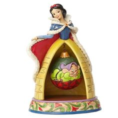 Disney Traditions Snow White and Dopey Christmas Statue - Enesco - Snow White - Statues at Entertainment Earth