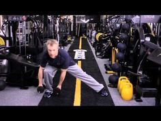 Dumbbell Side Lunge by Gunnar Peterson - YouTube