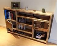 Rustic bookcase from reclaimed timber love the lock of it like old wood.