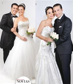 NOVIOS Y NOVIAS 1.-Marlene Bejarano y Julio César Flores 2.-Gabriela Velasco y Patricio Forno