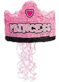"""Birthday Princess Crown 13"""" Pull-String Pinata, 40786"""