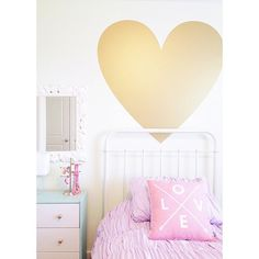 Vinyl Wall Decal Sticker Art, I Heart You by Urban Walls and my daughter's new big girl room