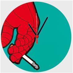 Spider Oguz Q Hediye Özel Tasarım sigara Kendin Tasarla - Duvar Saati 27cm