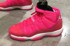 Jordan Brand athlete and Paralympic sprinter April Holmes spotted wearing a  hot pink Air Jordan 11 at Sneaker Con Fort Lauderdale. a05c08a3b868