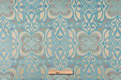 HV8211 Turquoise/Beige Floral Chenille