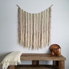 New rustic hanging with wooden beads!