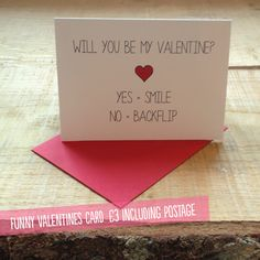 Cute valentine funny valentines day card will you be my valentine will you be my valentine funny valentines greetings card m4hsunfo