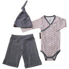 *New Spring 2011* Petunia Pickle Bottom GIRLS Layette Social Set - Mod Mum (3-6M) 100% Organic Cotton. 1 Bodysuit. 1 Knit pant. 1 Knit hat.  #Petunia_Pickle_Bottom #Baby_Product