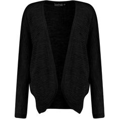Boohoo Rebecca Batwing Cardigan | Boohoo (18 CHF) ❤ liked on Polyvore featuring tops, cardigans, chunky knit turtleneck, marled cardigan, sequin cardigan, batwing cardigan and wrap top