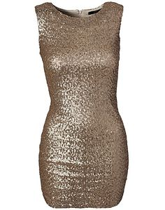 Paris No Sleeves Dress - TFNC - Gold - Party dresses - Clothing - NELLY.COM Fashion on the net
