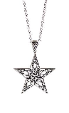 e532fe8a85f3 Cashs Sterling Silver Celtic Star Pendant Necklace Necklace Drawing