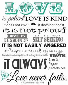 What love is according to 1 Corinthians 13 Bible Scriptures, Bible Quotes, Me Quotes, Qoutes, Godly Quotes, Scripture Art, Friend Quotes, Faith Quotes, Love Is Patient