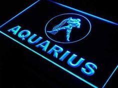 Astrology Zodiac Aquarius Neon Sign (LED) Aquarius Sign, Aquarius Zodiac, Astrology Zodiac, Zodiac Signs, Neon Light Signs, Led Neon Signs, Making Waves, Neon Lighting, Clear Acrylic