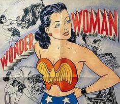 """Wonder Woman"" newspaper comic strip brochure. Cover art, artist unknown, 1944."