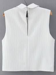 Shop Vertical Striped Wrap White Shirt at ROMWE, discover more fashion styles online. Clothing Patterns, Dress Patterns, Sewing Patterns, Sewing Blouses, Tunic Pattern, Crop Top Outfits, Vertical Stripes, White Shirts, Romwe