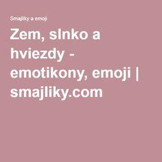 Zem, slnko a hviezdy - emotikony, emoji | smajliky.com