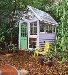 Potting Shed with Salvaged Parts
