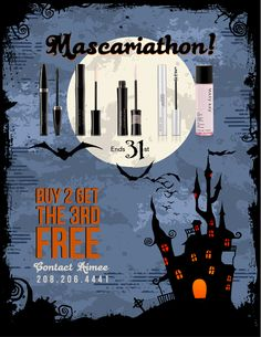 MK Mascariathon!! Buy 2 get the 3rd FREE! Contact Machelle Rader 540-820-4784 Free shipping!